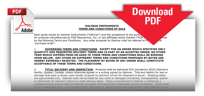 Dalimar Terms & Conditions